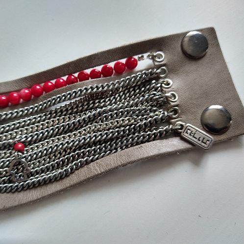 Leather & Bead with Fatima Hand Charm Bracelelt
