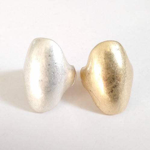 Brushed Metal Oval Expandable Rings