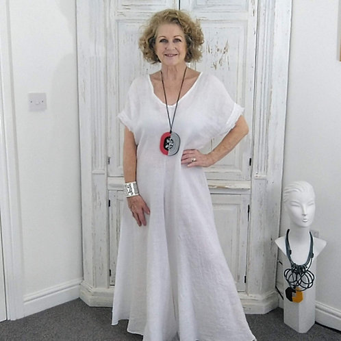 White Linen Shaped Culottes