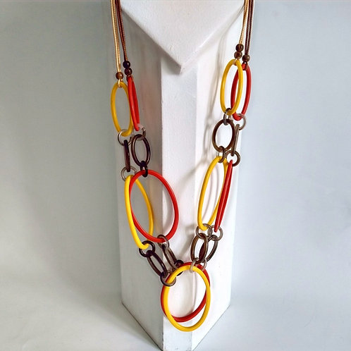 Long Acrylic Hoop and Ring Necklaces