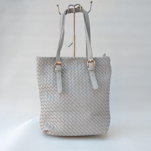 PU Mesh Midi Handbag