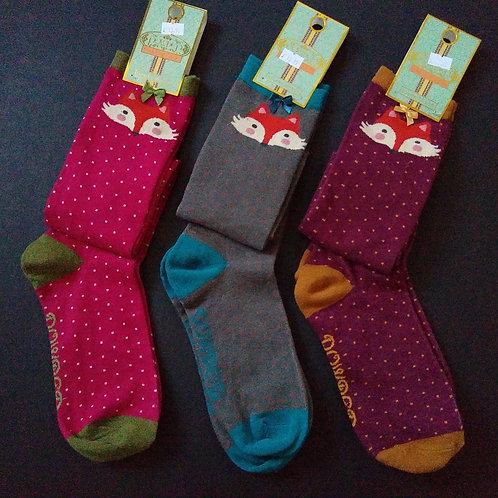 Powder Long Fox Head Socks