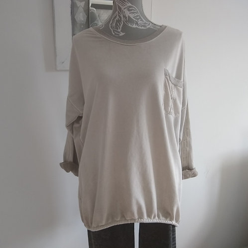 Gina Cotton Drawstring back Casual Top