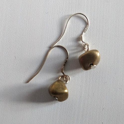 Etnika Bronze Nugget Earrings.