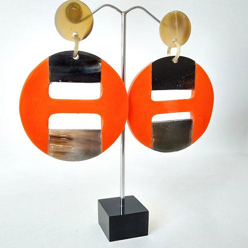 Acrylic Orange Earrings