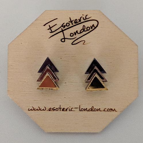 Esoteric Triple Triangle Earrings