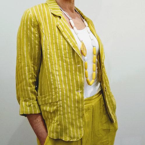 Pomodoro Stripe Linen Jacket
