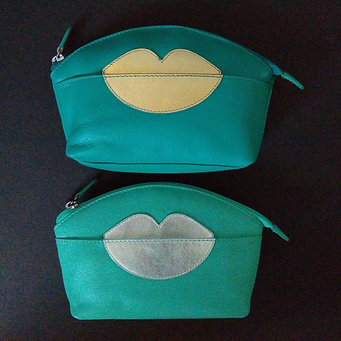 Leather make up purse.