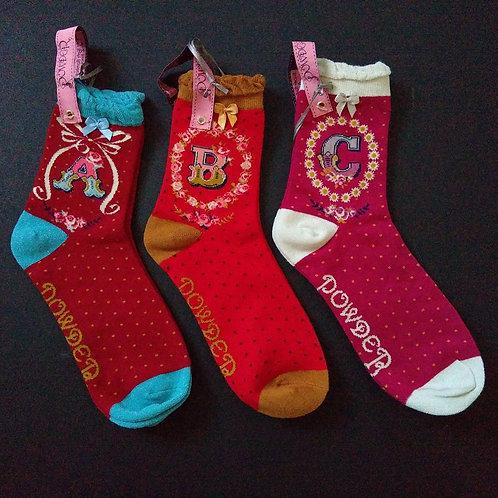 Powder Monogram Socks