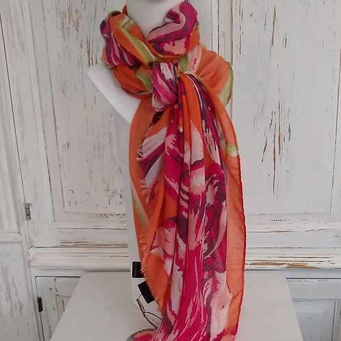 Powder Large Flower Scarf
