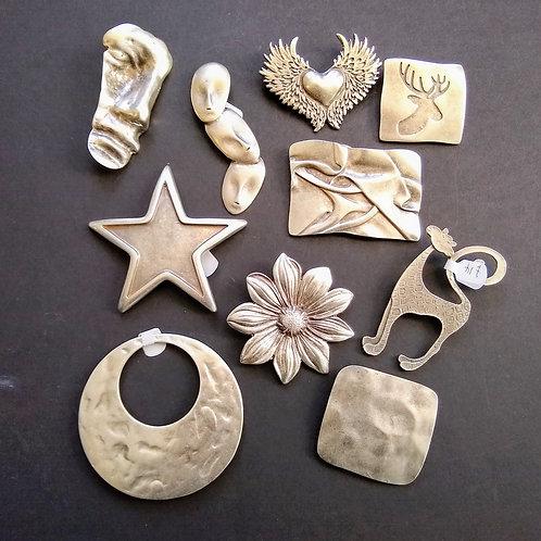 Hatti Metal Brooches