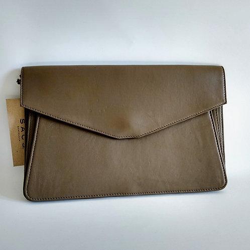 Sacs Deco Leather Clutch Bag