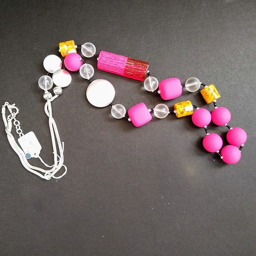 JCUK Pink Delight long necklace.