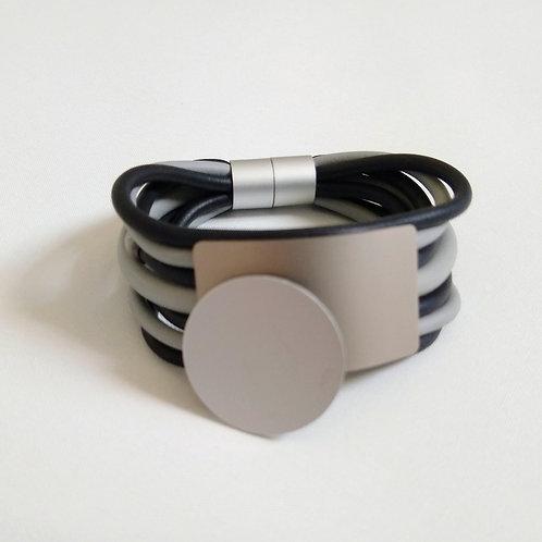 Multi Strand Detail Rubber Bracelet