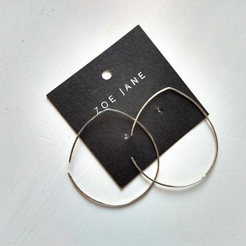 Medium Size Silver Hoop Earrings