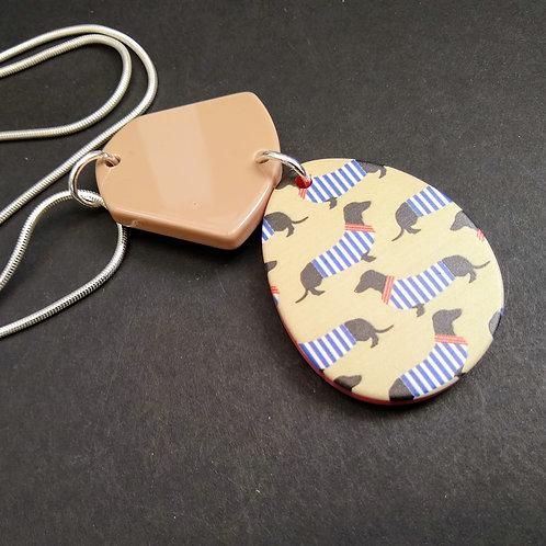 JCUK Dachshund detail necklace
