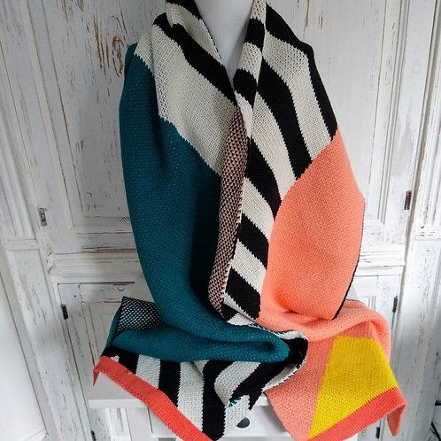 Miss Pom Pom Designer Knit Long Scarf
