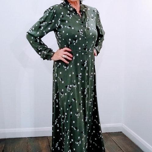 Green Vintage Dress Ebony Soya Concept