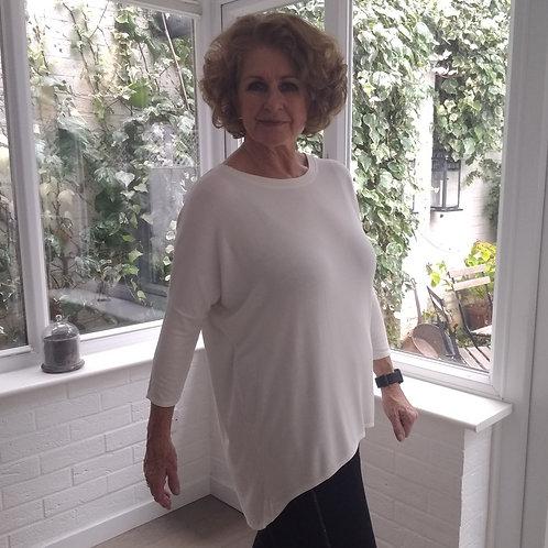 Flirty Long Line Dipped Back Sweatshirt