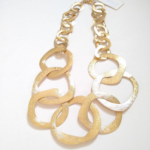 Textured Chain Link Short Necklace