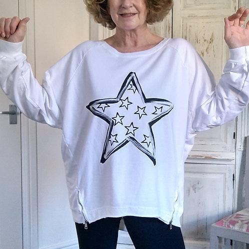 Hope Multi Star Sweatshirt Top