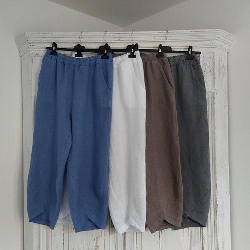Tulip Bottom Linen Trousers