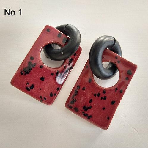 Porcelain Rubber Earrings