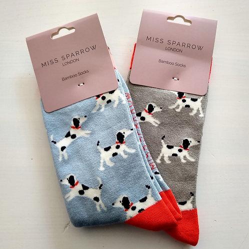 Miss Sparrow Spotty Dog Socks