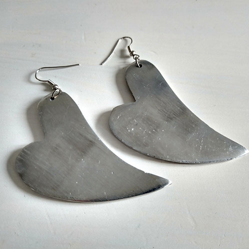 Aluminium Heart Earrings
