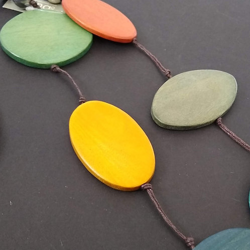 Long Wooden Adjustable Necklace