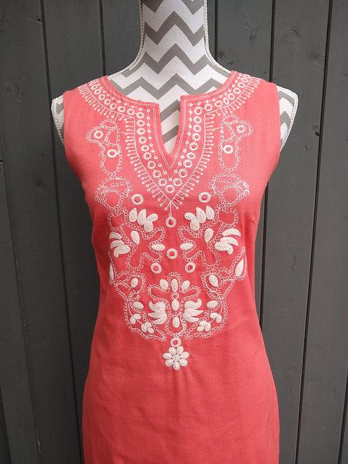 Embroided Detail Summer Dress
