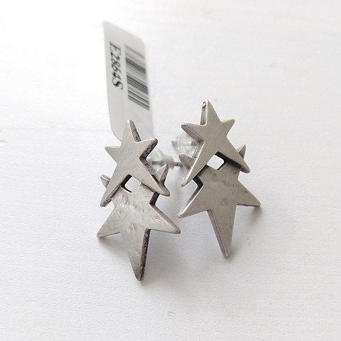 Danon Double Star Stud Earrings