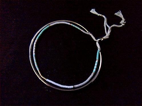 Lisa Angel Thin Metal Friendship Bracelet