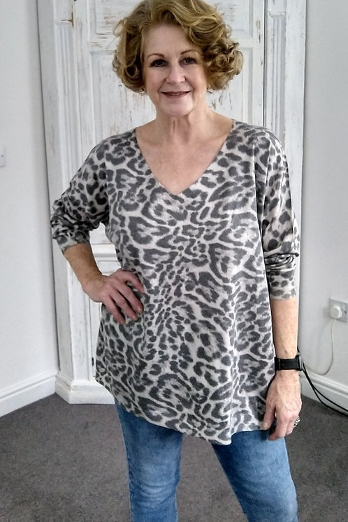 Animal Print Made In Italy Top