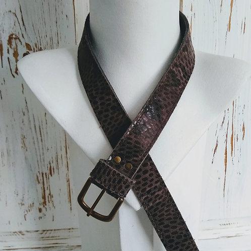 Leather Mixed Finish Belt