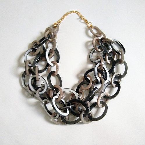 Plastic Chain Link Short Necklaces