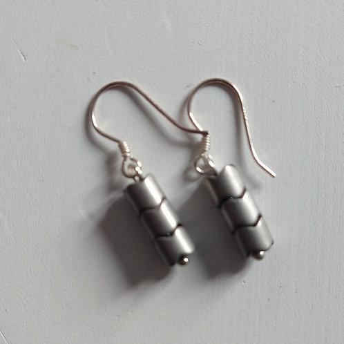 Etnika Chevron Metal Earrings