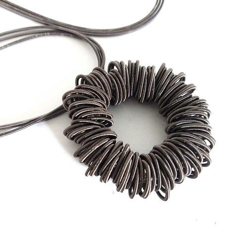Etnika Long Metal Coil Necklace