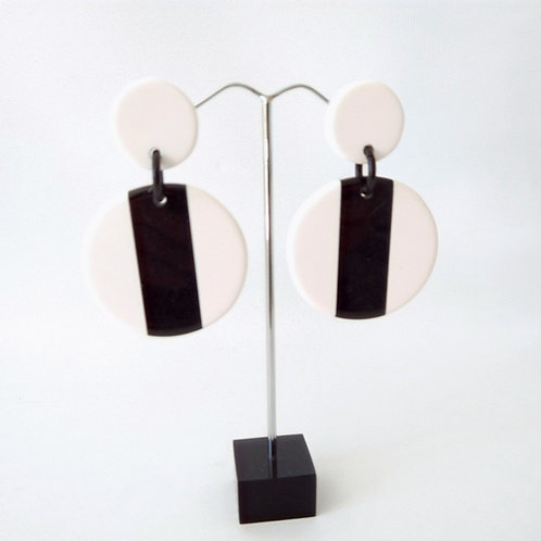 Acrylic Black & White Earrings