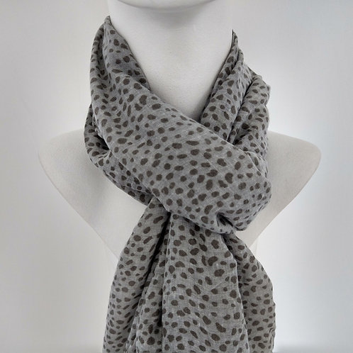 Grey Speckled Light Weight Scarf