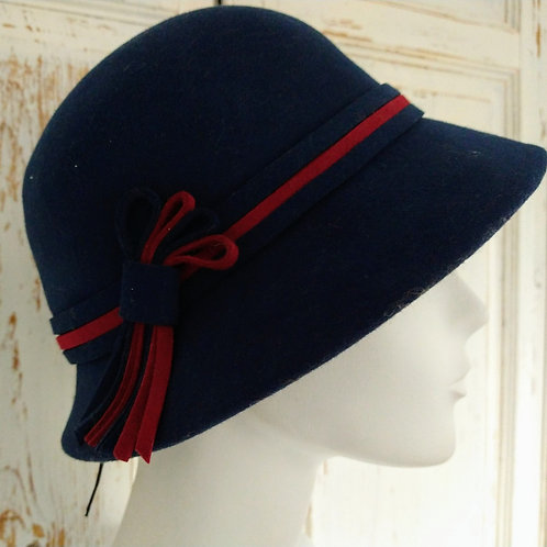 Wool Hat with Contrasting Band