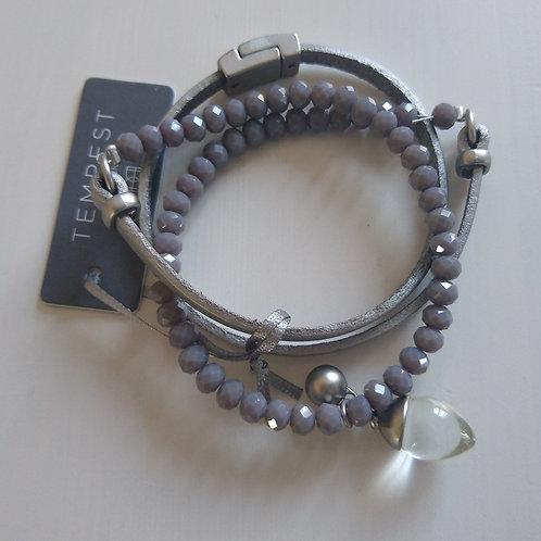 Mixed Textures Wrap Bracelets.