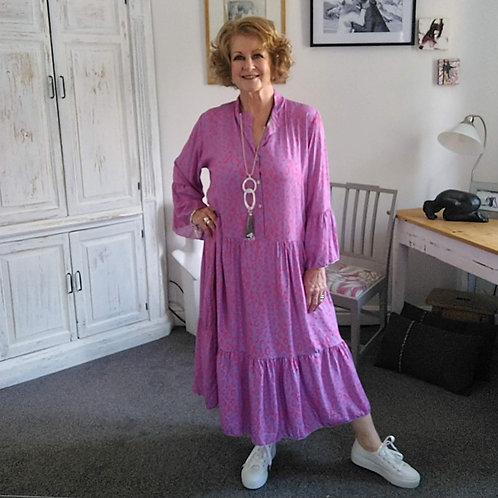 Pink Printed Midi Dress