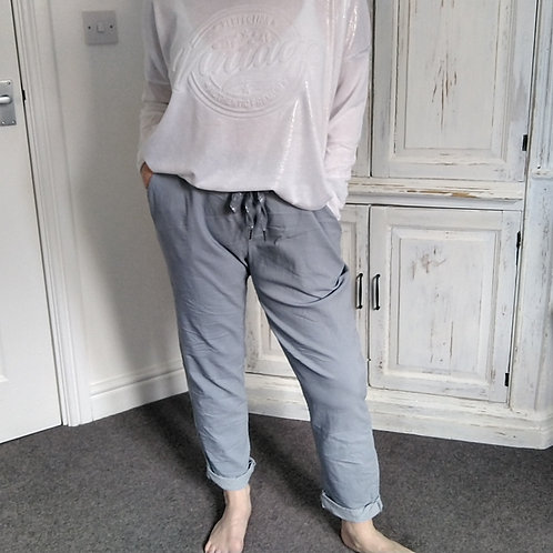 Honour Super Stretch Plain Grey Trousers