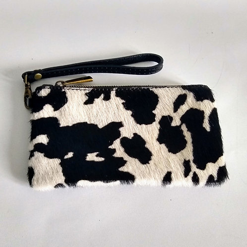 Leather Pony Effect Purse/Clutch