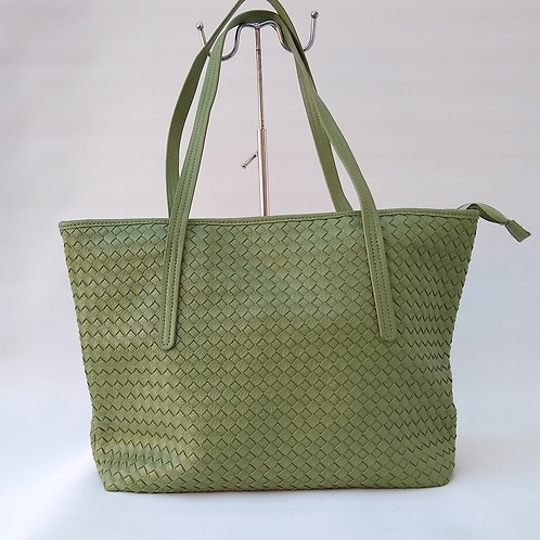 Large Mesh Effect PU Shopper