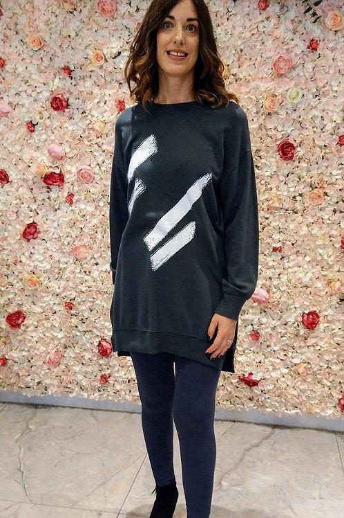 Abstract Sweatshirt Top/Dress.