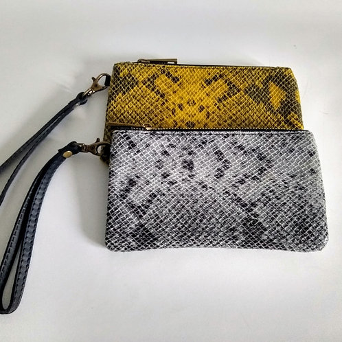Leather Snakeskin Effect Purse
