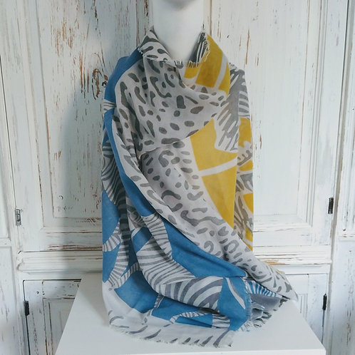 Zebra and Tiger Scarf