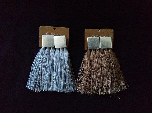 Silk Fringe Earrings